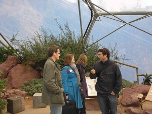 Some of the team at the Eden Project