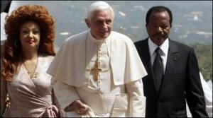 The Pope and Cameroon's President Biya