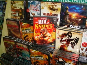 DVDs on sale at a Jakarta bookstore