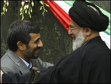 Ahmadinejad swearing in
