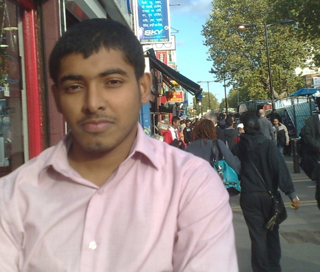 A Bangladeshi student in London looking for work.